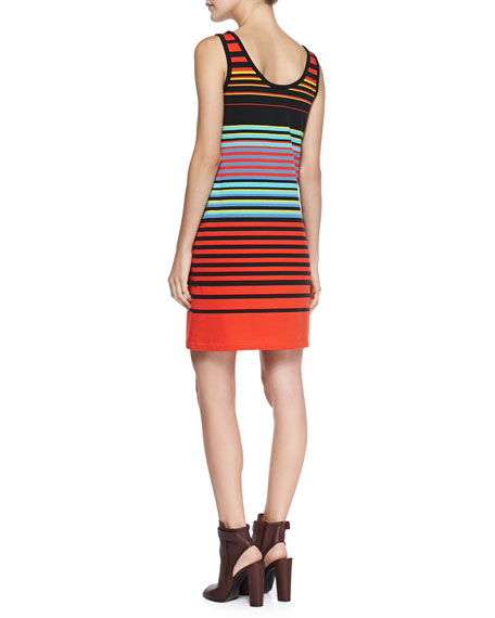 Paradise Striped Cotton-Jersey Dress