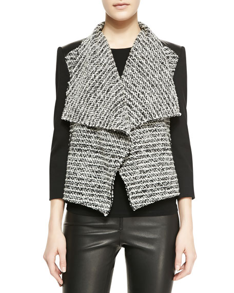 Burma Jacket With Leather Detail