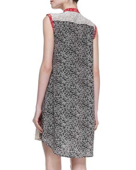 Karoo Printed Silk Crepe High-Low Shirtdress