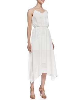 Rebecca Minkoff Suarez Silk V-Neck Dress
