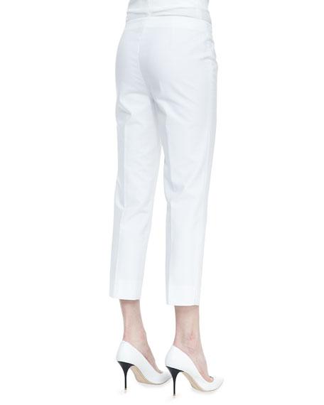 Metro Stretch Bleecker Cropped Pants, White