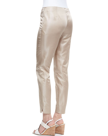 Metro Stretch Bleecker Cropped Pants, Raffia