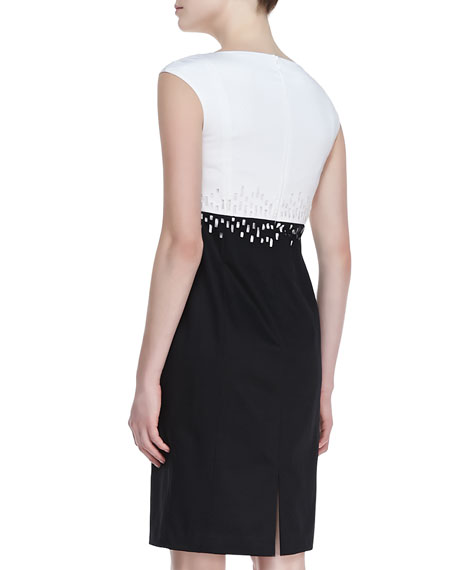 Harper Two-Tone Sheath Dress