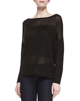Alice + Olivia Kerr Linen Knit Sweater