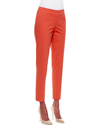 Bleecker Slim Cropped Pants, Begonia 657