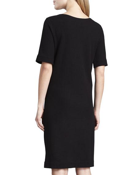 Pique Lace-Up Dress
