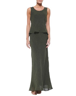 Lafayette 148 New York Kalare Sleeveless Linen Dress