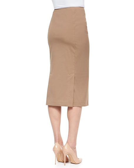 Pracilla Over-the-Knee Pencil Skirt