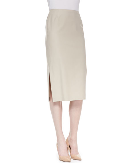 Dayna Over-the-Knee Skirt with Side Slit