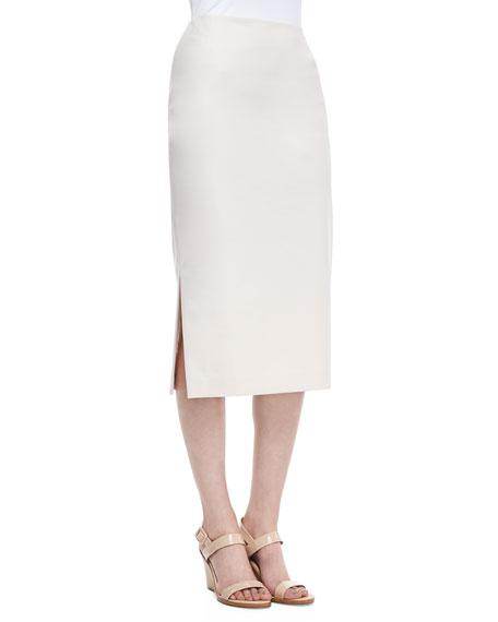 Dayna Over-the-Knee Pencil Skirt, Raffia