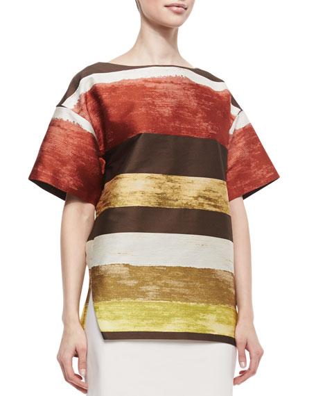 Bhima Short-Sleeve Striped Top