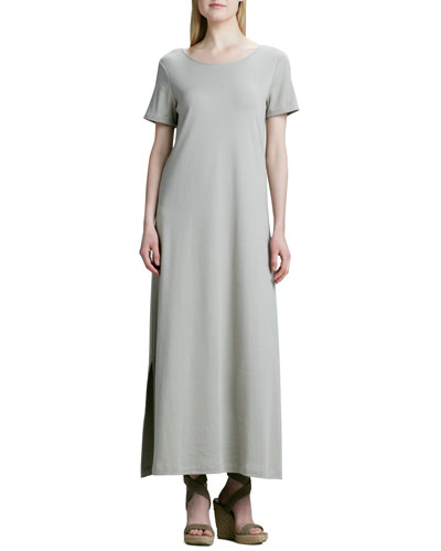 Joan Vass Long Cotton A-line Dress, Petite