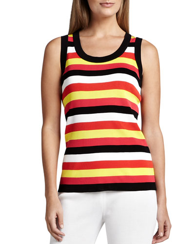 Misook Multi-Striped Tank Top