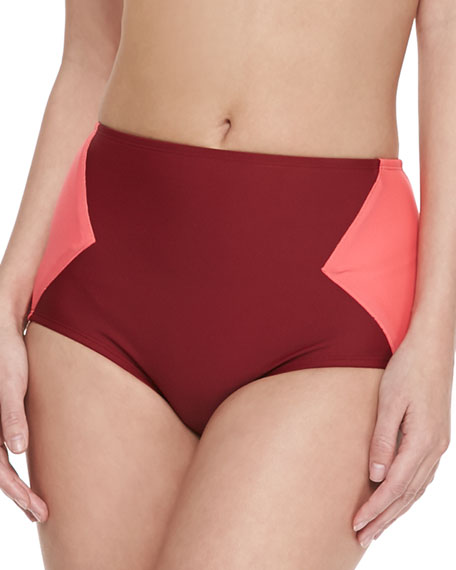 Kite Two-Tone High-Waist Swim Bottom