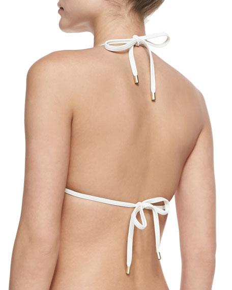 Capella Bound Printed Triangle Bikini Top