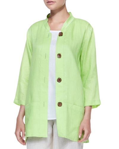 Tissue Linen Big Shirt, Women