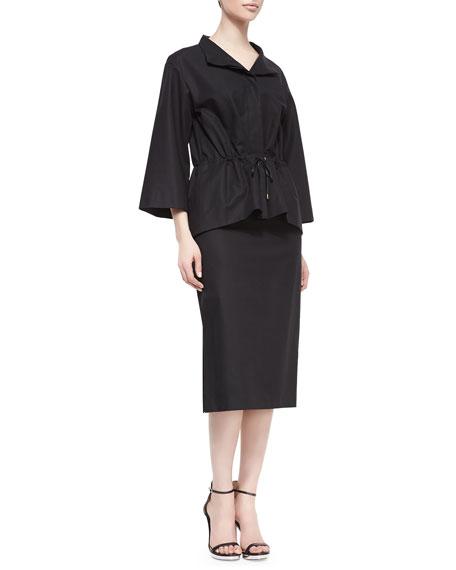 Dayna Below-the-Knee Skirt, Black