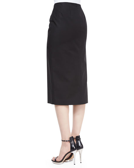 Dayna Below-the-Knee Skirt, Black