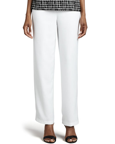 Caroline Rose Travel Straight-Leg Pants, Women's