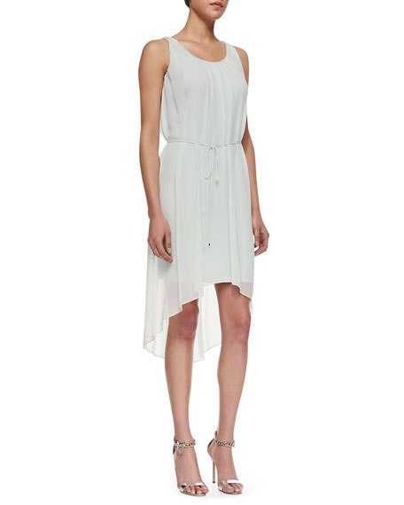 Everleigh Sleeveless High-Low Dress, Soft Sky