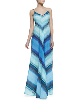 12th Street by Cynthia Vincent Mitered Striped Knit Maxi Dress