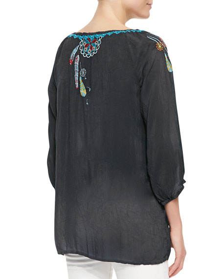 Dandelion Embroidered Blouse
