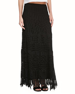 12th Street by Cynthia Vincent Lace Maxi Skirt/Dress