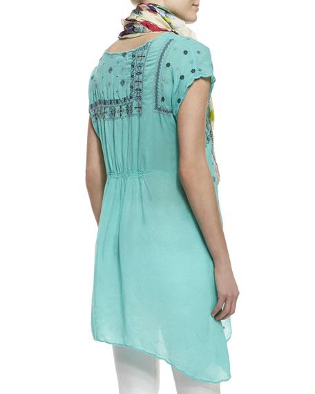Bandana Georgette Short-Sleeve Tunic