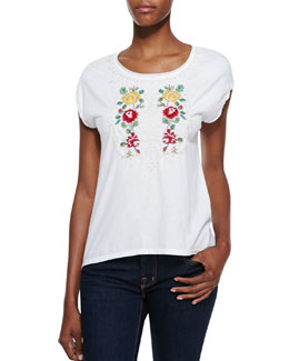 JWLA for Johnny Was Reese Cap-Sleeve Tee, Women's