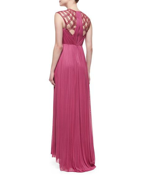 Mona Yoke-Cutout Gown