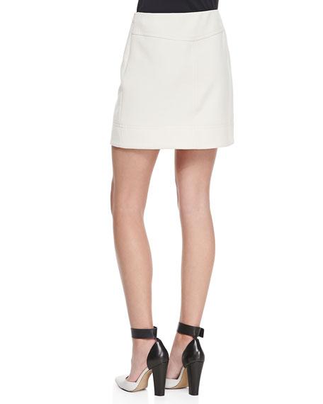 Eva Stretch Buckled Wrap Miniskirt