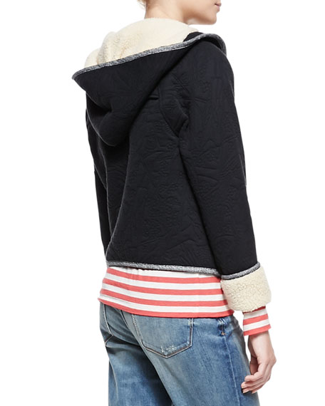 Willier Quilted-Knit Hooded-Jacket