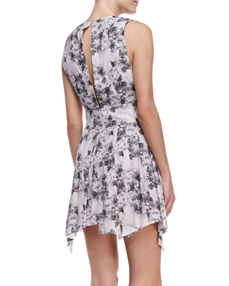 Bonded Floral-Print Summer Dress
