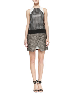 Tibi Mixed Media Pavement Dress