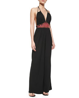 6 Shore Road Before Dawn Halter-Neck Jumpsuit
