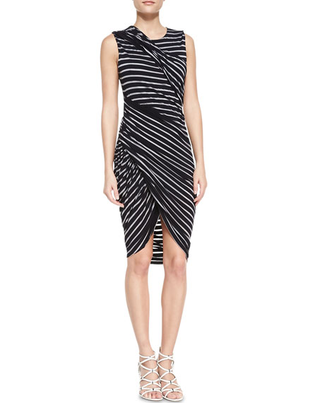 Tornado Twisted Striped Jersey Dress