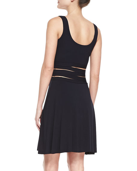 Devil Delight Mesh-Inset Jersey Dress