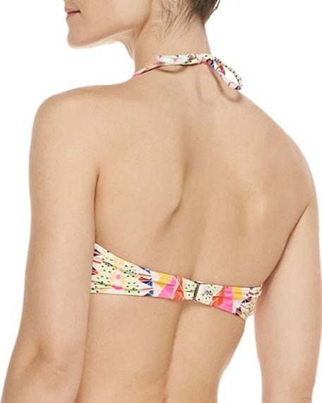 Naga Printed Bustier Underwire Bikini Top