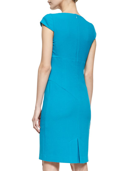 Gretchen Crepe Cowl-Neck Dress