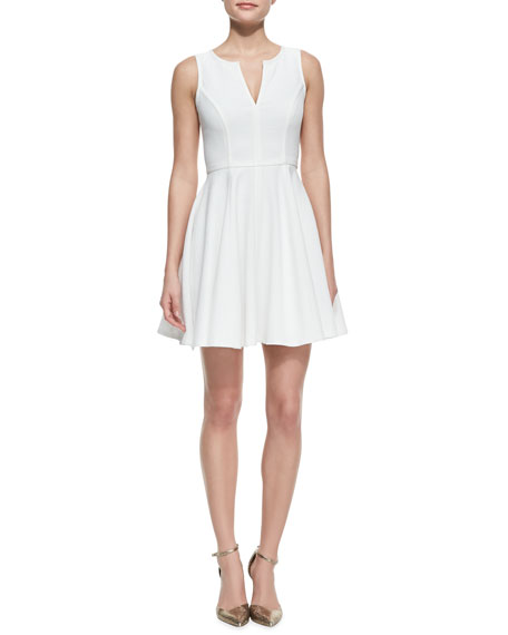 Aria Puckered Crepe A-Line Dress