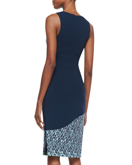 Hialeah Lace-Trim Sleeveless Sheath Dress