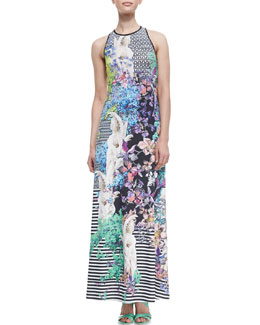 Clover Canyon Enchanted Garden Printed Maxi Dress