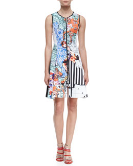 Clover Canyon Floral Silhouettes Sleeveless Dress