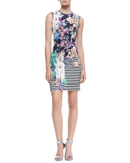 Enchanted Garden Neoprene Sleeveless Dress