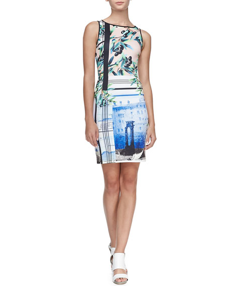 Olive Tree Sleeveless Dress