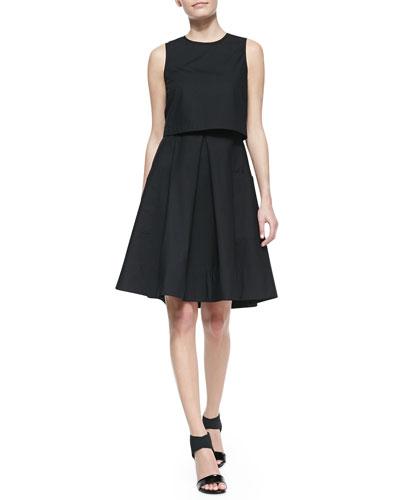 Tibi Sleeveless Ultra Matte Pop Top Dress