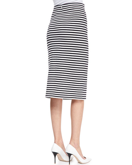Racetrack Striped Pencil Skirt