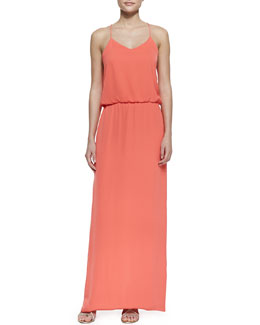 Tibi Spaghetti Strap Washed Matte Dress, Grenadine