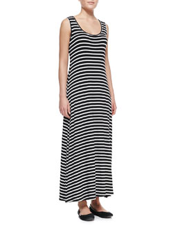 Elliott Lauren Striped Tank Maxi Dress, Black/White