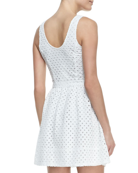 Natrina Eyelet Sleeveless Dress